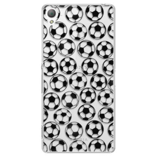 iSaprio Plastový kryt - Football pattern - black pre Sony Xperia Z3