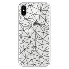 iSaprio Silikónové puzdro - Abstract Triangles 03 - black pre Apple iPhone X