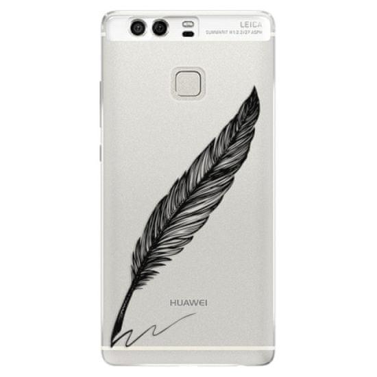 iSaprio Silikónové puzdro - Writing By Feather - black pre Huawei P9
