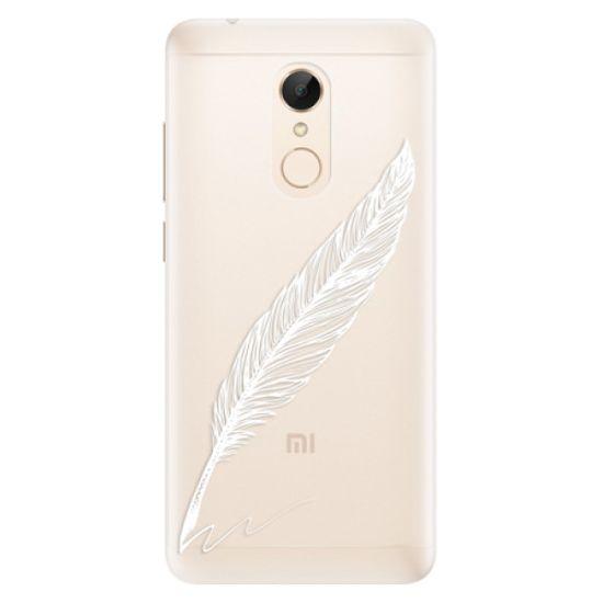 iSaprio Silikónové puzdro - Writing By Feather - white pre Xiaomi Redmi 5