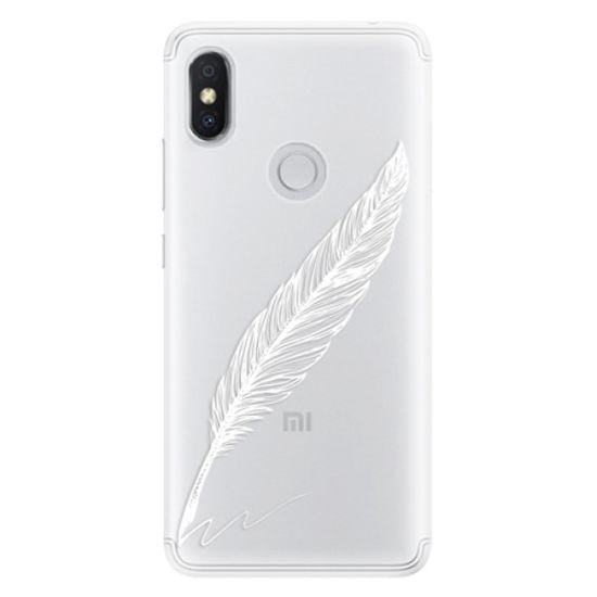 iSaprio Silikonové pouzdro - Writing By Feather - white pro Xiaomi Redmi S2