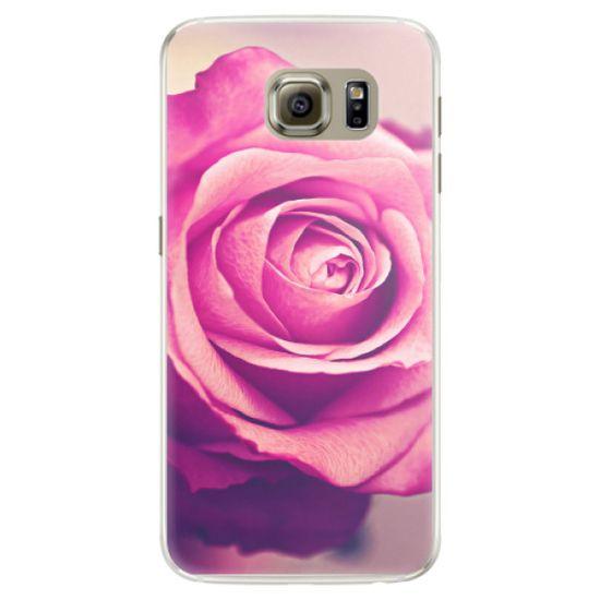 iSaprio Silikónové puzdro - Pink Rose pre Samsung Galaxy S6 Edge
