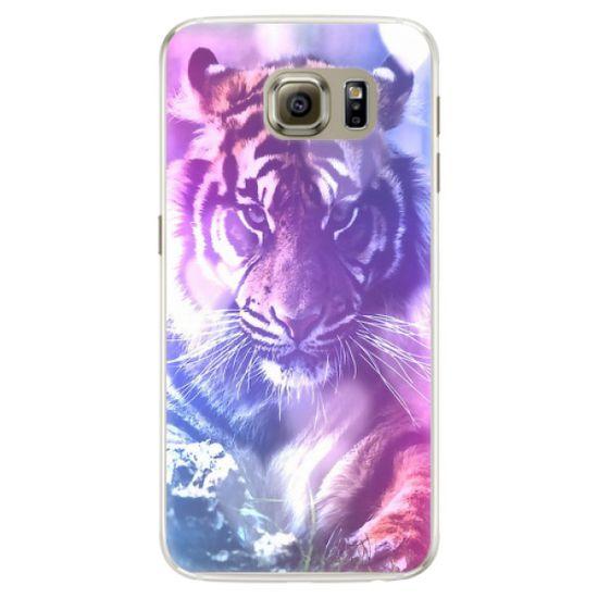 iSaprio Silikonové pouzdro - Purple Tiger pro Samsung Galaxy S6 Edge