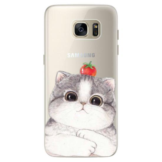 iSaprio Silikónové puzdro - Cat 03 pre Samsung Galaxy S7 Edge