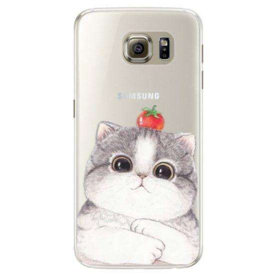 iSaprio Silikónové puzdro - Cat 03 pre Samsung Galaxy S6 Edge
