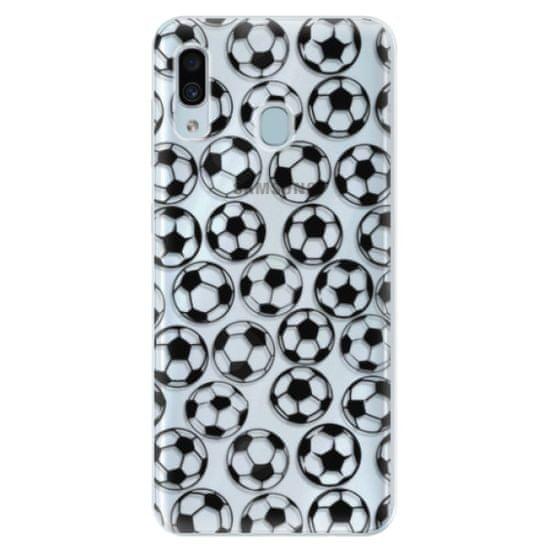 iSaprio Silikónové puzdro - Football pattern - black pre Samsung Galaxy A30