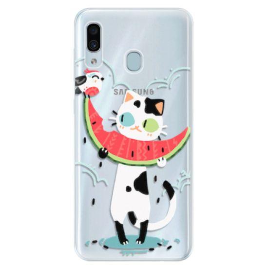 iSaprio Silikónové puzdro - Cat with melon pre Samsung Galaxy A30
