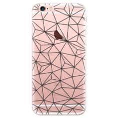 iSaprio Silikónové puzdro - Abstract Triangles 03 - black pre Apple iPhone 6 Plus