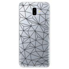 iSaprio Silikonové pouzdro - Abstract Triangles 03 - black pro Samsung Galaxy J6+
