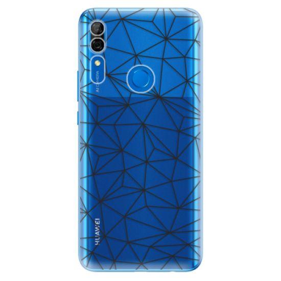 iSaprio Silikónové puzdro - Abstract Triangles 03 - black pre Huawei P Smart Z