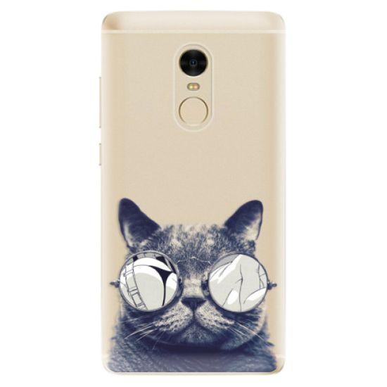 iSaprio Silikonové pouzdro - Crazy Cat 01 pro Xiaomi Redmi Note 4