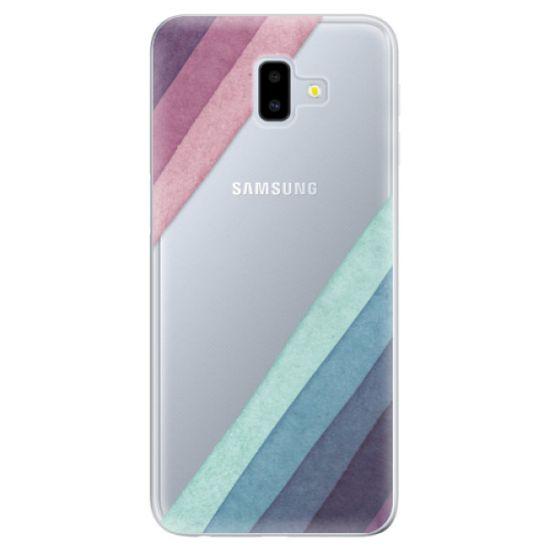 iSaprio Silikónové puzdro - Glitter Stripes 01 pre Samsung Galaxy J6+