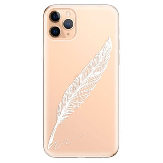 iSaprio Silikonové pouzdro - Writing By Feather - white pro Apple iPhone 11 Pro Max