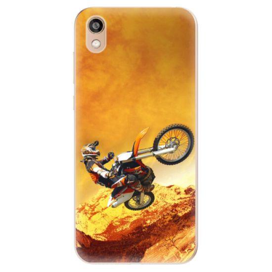 iSaprio Silikónové puzdro - Motocross pre Honor 8S