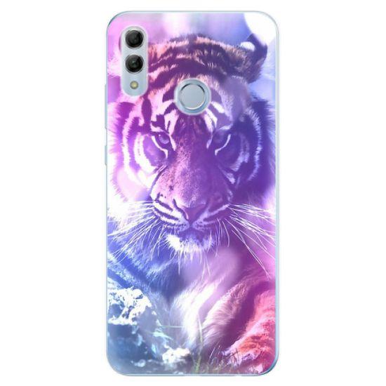 iSaprio Silikónové puzdro - Purple Tiger pre Honor 10 Lite