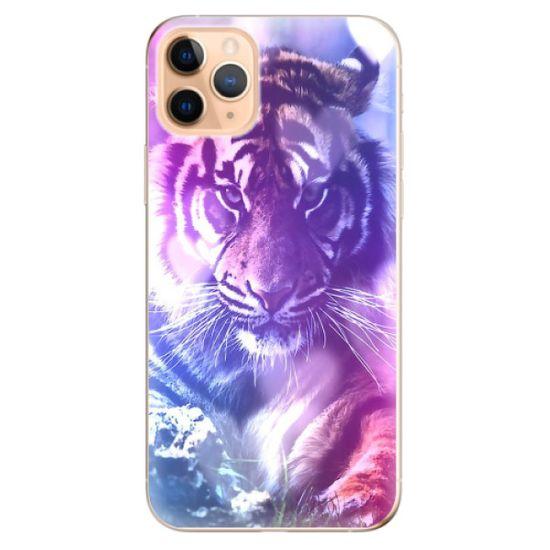 iSaprio Silikónové puzdro - Purple Tiger pre Apple iPhone 11 Pro Max