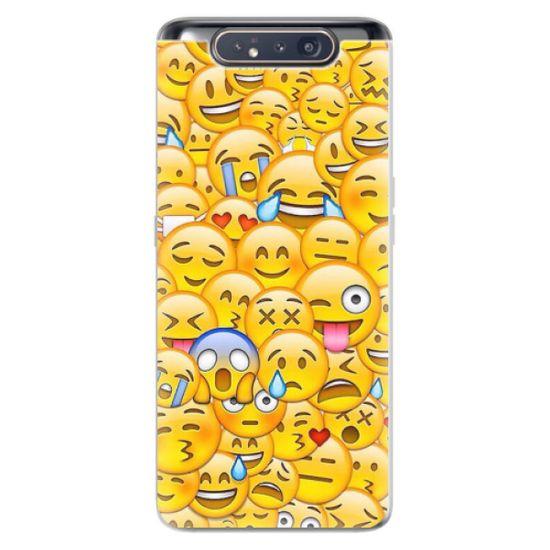 iSaprio Silikónové puzdro - Emoji pre Samsung Galaxy A80