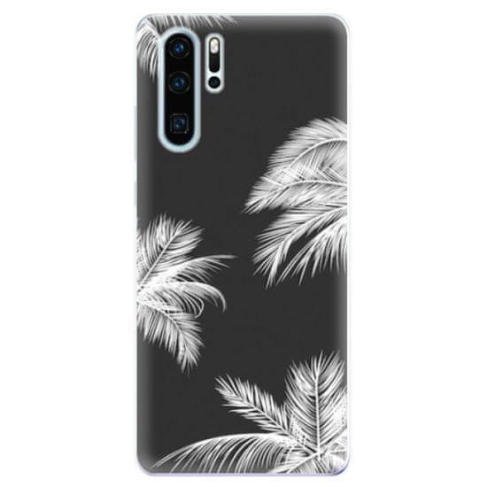 iSaprio Silikonové pouzdro - White Palm pro Huawei P30 Pro