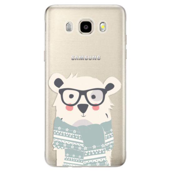 iSaprio Silikónové puzdro - Bear with Scarf pre Samsung Galaxy J5 (2016)