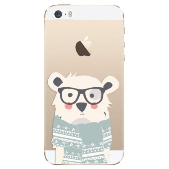 iSaprio Silikónové puzdro - Bear with Scarf pre Apple iPhone 5/5S/SE