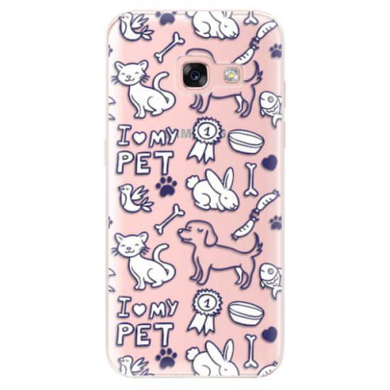 iSaprio Silikonové pouzdro - Love my pets pro Samsung Galaxy A3 (2017)