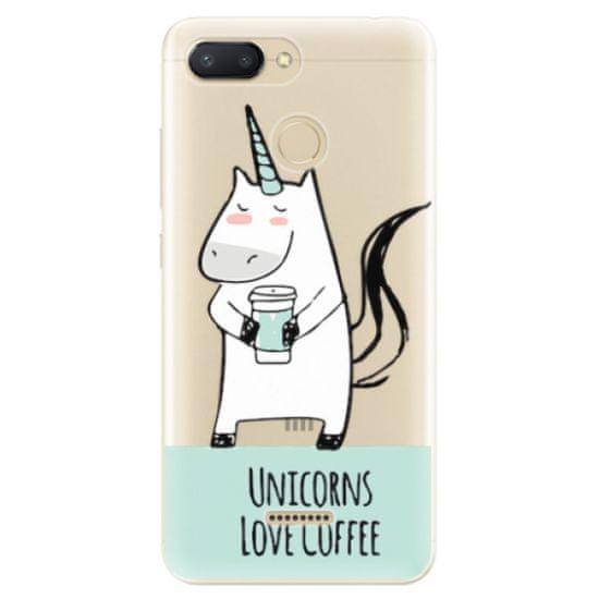 iSaprio Silikonové pouzdro - Unicorns Love Coffee pro Xiaomi Redmi 6