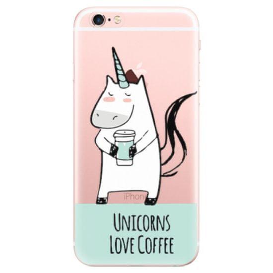 iSaprio Silikónové puzdro - Unicorns Love Coffee pre Apple iPhone 6 Plus