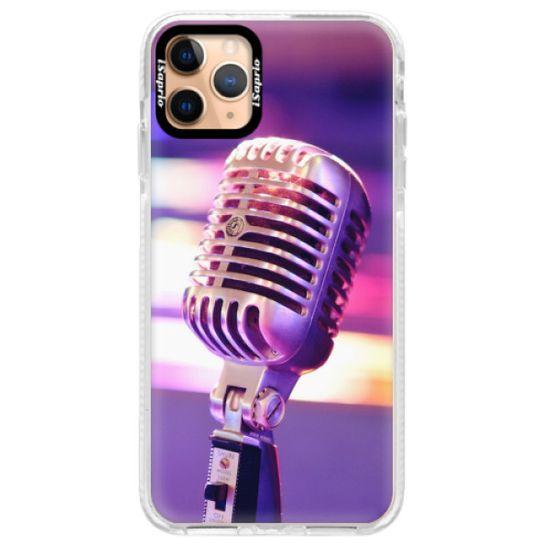 iSaprio Silikonové pouzdro s bumperem - Vintage Microphone pro Apple iPhone 11 Pro Max