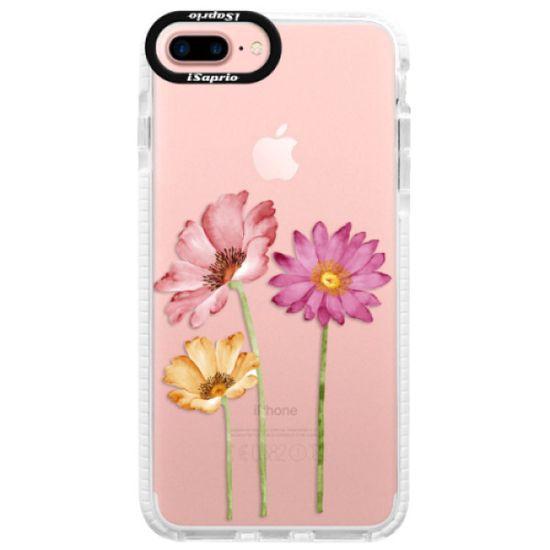 iSaprio Silikónové puzdro s bumperom - Three Flowers pre Apple iPhone 7 Plus / 8 Plus