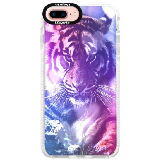 iSaprio Silikónové puzdro s bumperom - Purple Tiger pre Apple iPhone 7 Plus / 8 Plus