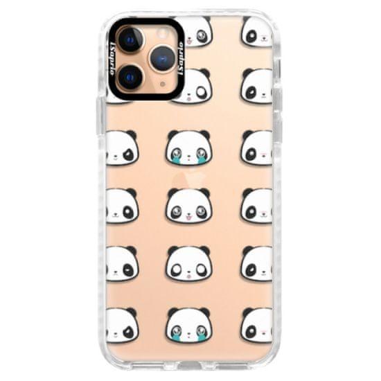 iSaprio Silikónové puzdro s bumperom - Panda pattern 01 pre Apple iPhone 11 Pro