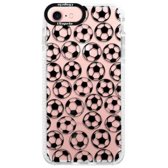 iSaprio Silikónové puzdro s bumperom - Football pattern - black pre Apple iPhone 7 / 8