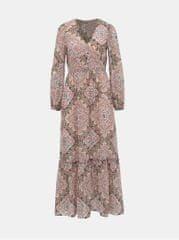 Miss Selfridge růžové vzorované maxi šaty