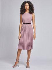 Dorothy Perkins starorůžové plisované šaty