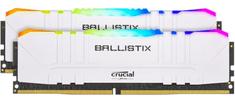 Crucial Ballistix RGB 16GB Kit (2x8GB), DDR4, 3600MHz, DIMM, CL16 pomnilnik, bel (BL2K8G36C16U4WL)