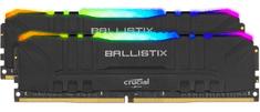 Crucial Ballistix RGB 16GB Kit (2x8GB), DDR4, 3200MHz, DIMM, CL16 memorija, crna (BL2K8G32C16U4BL)