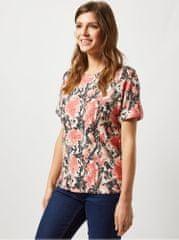 Dorothy Perkins korálové tričko s hadím vzorem