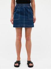 Miss Selfridge modrá džínová minisukně