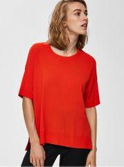 Selected Femme červený top s rozparky Wille