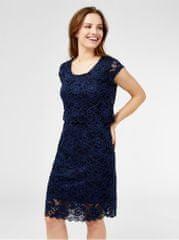 Mama.licious tmavě modré krajkové těhotenské/kojicí šaty Mivane