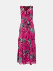 Billie & Blossom růžové květované maxi šaty