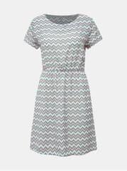 Haily´s zeleno-bílé vzorované šaty Evi