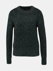 Vero Moda tmavě zelený vzorovaný svetr Akua