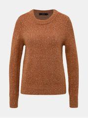 Vero Moda hnědý vzorovaný svetr Akua