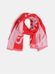 Calvin Klein Jeans červeno-růžový vzorovaný maxi šátek