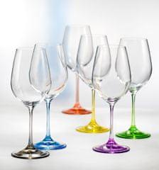 Crystalex RAINBOW poháre 550 ml, 6 ks