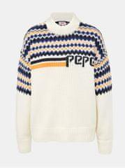 Pepe Jeans krémový dámský vzorovaný svetr Monikas