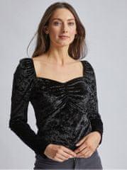 Dorothy Perkins černé sametové tričko