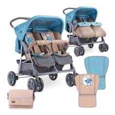 Lorelli otroški voziček TWIN + potovalna torba za voziček 2019, za dvojčka