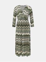 Haily´s khaki vzorované midi šaty Maci